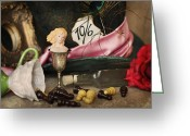 Mad Hatter Photo Greeting Cards - Alice In Wonderland Greeting Card by Heidi Thrasher