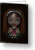 Alice In Wonderland Painting Greeting Cards - Alicia Greeting Card by  Abril Andrade Griffith