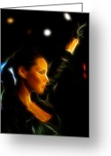 Vibe Greeting Cards - Alicia Keys - Singer Greeting Card by Lee Dos Santos