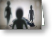 Secrecy Greeting Cards - Alien Abduction Greeting Card by Richard Kail
