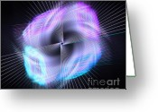 Radial Design Greeting Cards - Alien Craft Greeting Card by Yali Shi