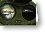 Military Vehicle Greeting Cards - Alien Eyes Greeting Card by Christi Kraft