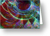New Age Art Greeting Cards - Alien Force Greeting Card by Michael Durst
