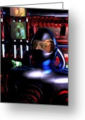 Men In Black Greeting Cards - Alien Mind Control Greeting Card by Bob Orsillo