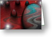 Music Inspired Art Greeting Cards - Alien Nation Greeting Card by Linda Sannuti