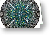 Celtic Knots Greeting Cards - Alignment Greeting Card by Meghan Oona Clifford