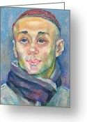 Skullcap Greeting Cards - Alisher Khasanov Greeting Card by Leonid Petrushin