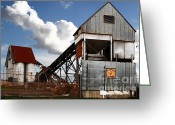 Factories Greeting Cards - Alive and Well in America . The Old Industrial Sand Plant in Berkeley California . 7D13952 Greeting Card by Wingsdomain Art and Photography