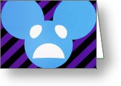 Violet Blue Greeting Cards - Alivemau6 Greeting Card by Oliver Johnston
