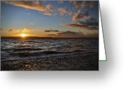 Seattle Framed Prints Greeting Cards - Alki Sweet Dreams Greeting Card by James Heckt
