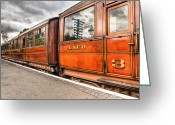 Carriage Greeting Cards - All Aboard Greeting Card by Adrian Evans