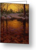 River Scenes Greeting Cards - All Aglow Greeting Card by Cody DeLong