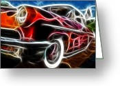 Fractalius Art Greeting Cards - All American Hot Rod Greeting Card by Paul Ward