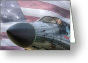 Bombers Greeting Cards - All American Greeting Card by JC Findley