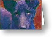 Mutt Greeting Cards - All American Mutt Greeting Card by Jane Schnetlage