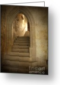 Archways Greeting Cards - All Experience is an Arch Greeting Card by Heiko Koehrer-Wagner