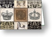 Neutral Greeting Cards - All Hail the Queen Greeting Card by Debbie DeWitt