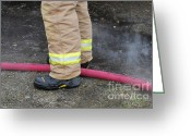 Fireman Boots Greeting Cards - All in a days work Greeting Card by Jamie Riley