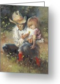 Cowboys Greeting Cards - All of Lifes Little Wonders Greeting Card by Mia DeLode