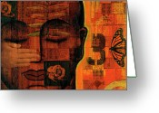 Contemplative Greeting Cards - All Seeing Greeting Card by Gloria Rothrock