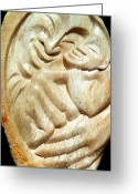 Stone Sculpture Greeting Cards - All Smiles Greeting Card by Angela Treat Lyon