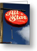 All Star Photo Greeting Cards - All Star Greeting Card by Jez C Self