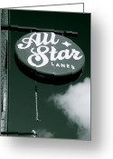 All Star Photo Greeting Cards - All Star Lanes Greeting Card by Jez C Self