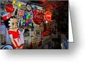 The Mother Road Greeting Cards - All the Souvenirs of Route 66  Greeting Card by Susanne Van Hulst
