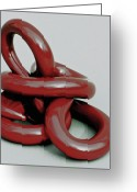 Lines Sculpture Greeting Cards - All Tied Up Greeting Card by Lonnie Tapia