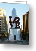 Philadelphia Greeting Cards - All You Need Is Love Greeting Card by Bill Cannon