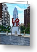 Fairmount Park Greeting Cards - All you need is love Greeting Card by Paul Ward