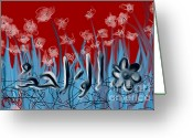 Koran Greeting Cards - Allah The One Daisies Greeting Card by Mohamdania Mohamdania