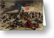 Europe Painting Greeting Cards - Allegory of the Siege of Paris Greeting Card by Jean Louis Ernest Meissonier