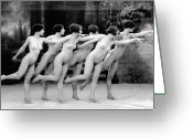 Albert Greeting Cards - Allen: Chorus Line, 1920 Greeting Card by Granger