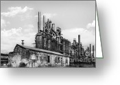 Coal  Greeting Cards - Allentown Old Smokey  Greeting Card by Geo Romolo