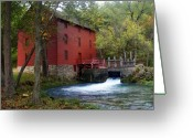 Ozarks Greeting Cards - Alley Sprng Mill 3 Greeting Card by Marty Koch