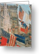 Patriotism Painting Greeting Cards - Allies Day Greeting Card by Frederick Childe Hassam
