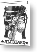 Pirates Greeting Cards - Allstars Greeting Card by Bruce Kay