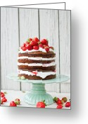 Layer Greeting Cards - Almond And Yogurt Layer Cake Greeting Card by Trk-Bognr Renta