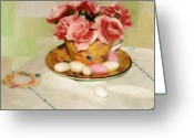 Teacup Digital Art Greeting Cards - Almond Blossom Tea Greeting Card by RC DeWinter