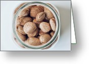 Directly Above Greeting Cards - Almonds Greeting Card by Lina Aidukaite