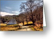Country Dirt Roads Photo Greeting Cards - Almost Home Greeting Card by David Walsh