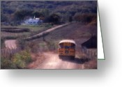 Rural Road Greeting Cards - Almost Home Greeting Card by Garry McMichael