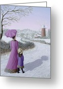 Mother And Child Greeting Cards - Almost Home Greeting Card by Peter Szumowski