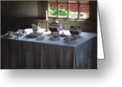 Teapot Greeting Cards - Almost Tea Time Greeting Card by RC DeWinter