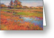 Bright Pastels Greeting Cards - Almost to the Lake Greeting Card by Barbara Jaenicke