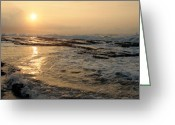 Hawaiian Art Digital Art Greeting Cards - Aloha Oe Sunset Hookipa Beach Maui North Shore Hawaii Greeting Card by Sharon Mau