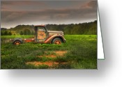 Old Chevrolet Truck Greeting Cards - Alone Again Naturally Greeting Card by Thomas Young