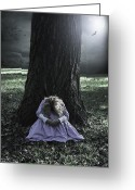 Anonymous Photo Greeting Cards - Alone At Night Greeting Card by Joana Kruse