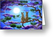 Laura Milnor Iverson Greeting Cards - Alone in the Treetops Greeting Card by Laura Iverson